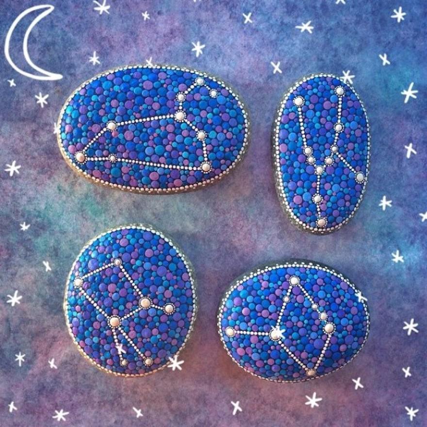 hvězdná znamení na kamínkách