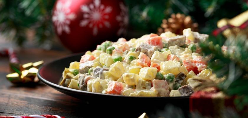 bramborový salát na vánoce