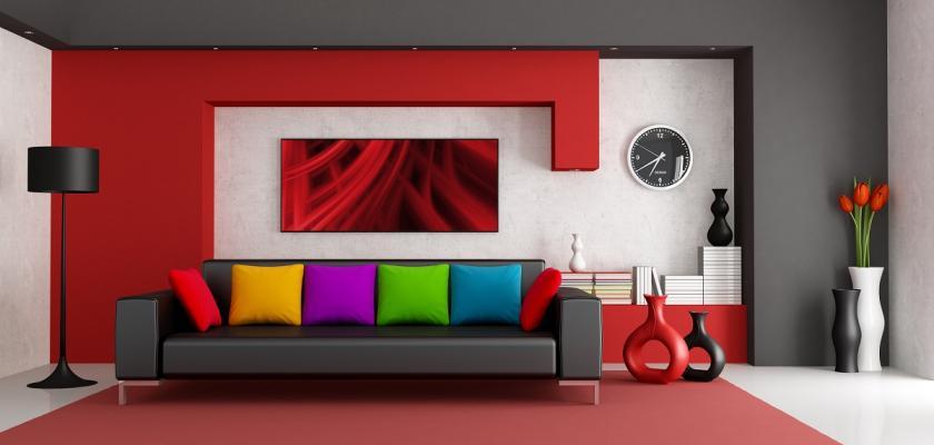 obývák s originálním gaučem