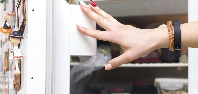 otevřená lednička