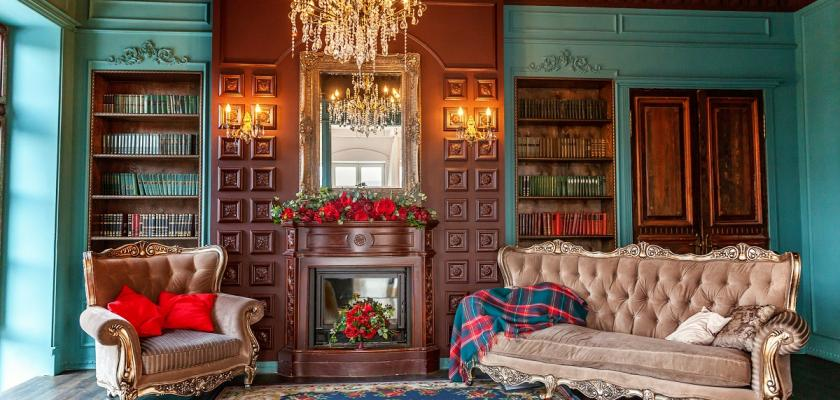anglický obývací pokoj