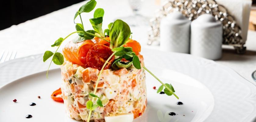 luxusní bramborový salát