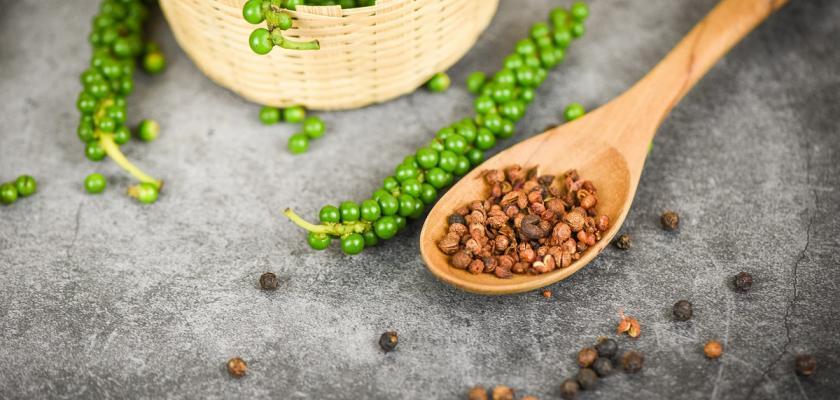 zelený pepř