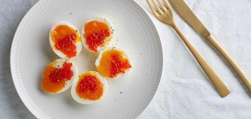 vajíčka s kaviárem
