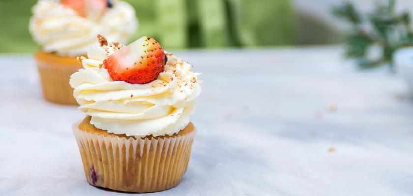 cupcakes s jahodou