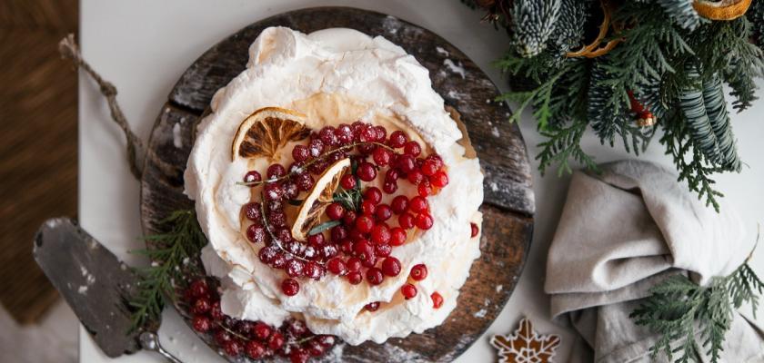 vánoční dort pavlova