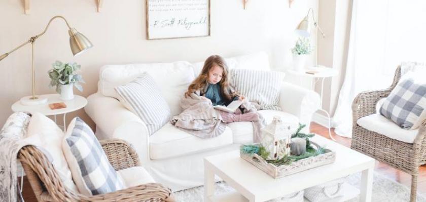 bílý dětský pokoj