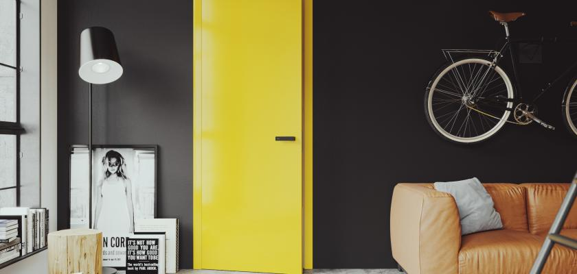žluté dveře elegant sapeli