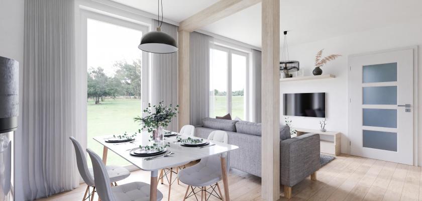 dřevostavba homing interiér