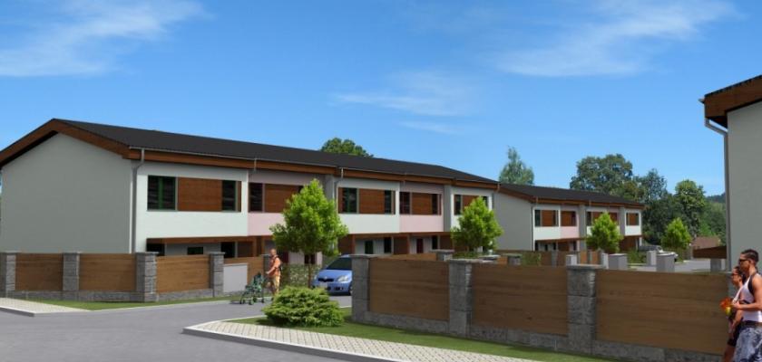 řadové domy v Plzni
