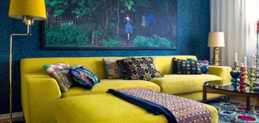 Bydlení v duchu Rebelů: K retro stylu patří výrazné barvy, odvážné vzory a