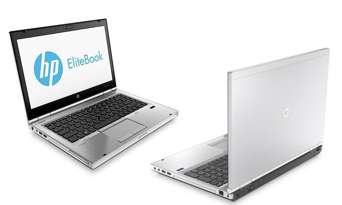 repasovaný stříbrný notebook