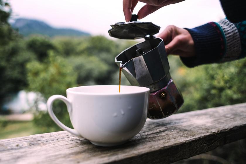 káva z mok konvičky