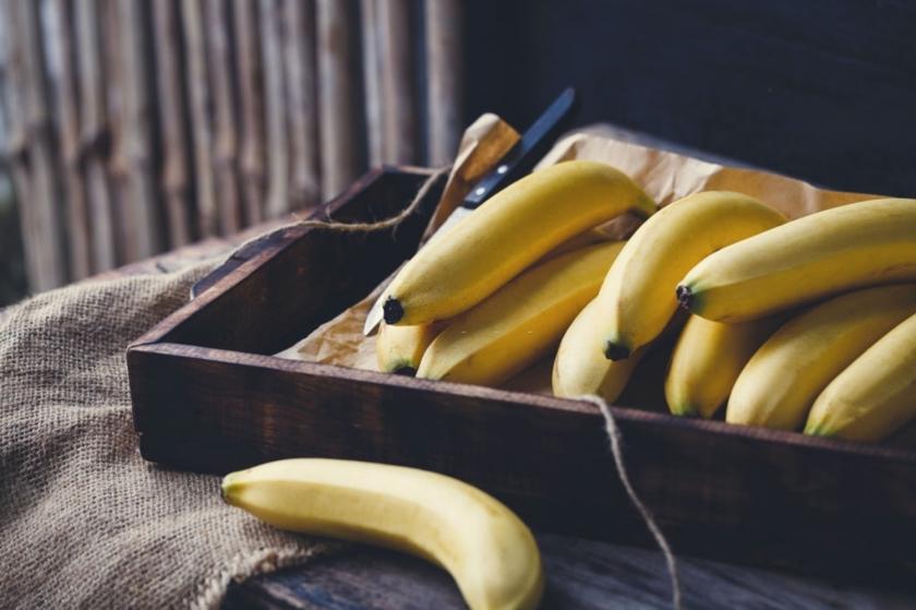 banány v bedýnce