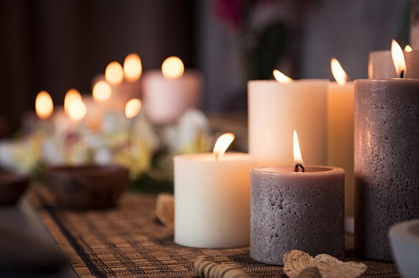 světlo svíčky