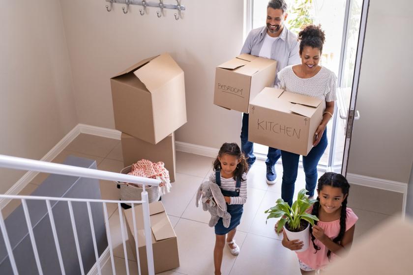 stěhování s celou rodinou