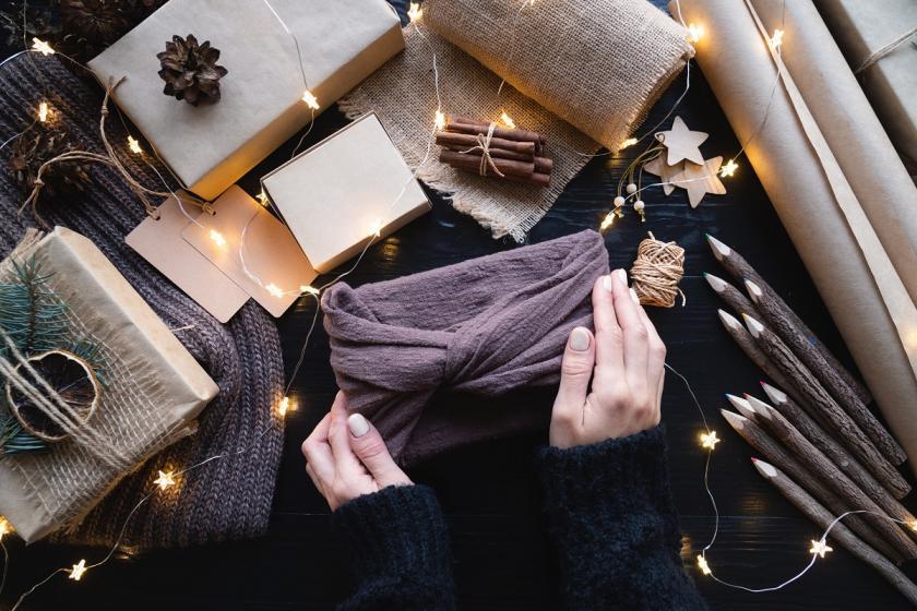 furoshiki na vánoce