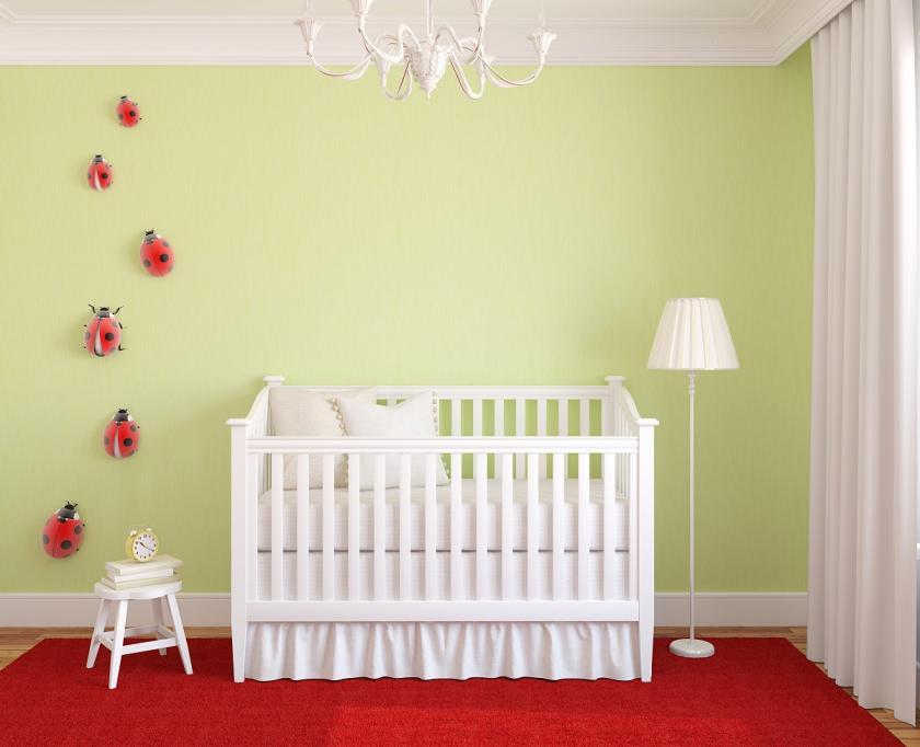 beruška v dětském pokoji
