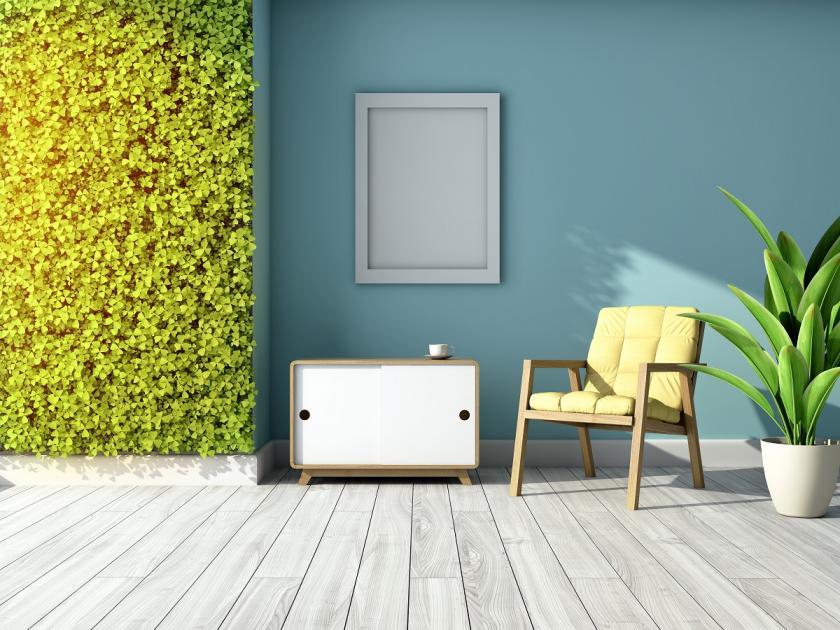 vertikální zahrada v interiéru