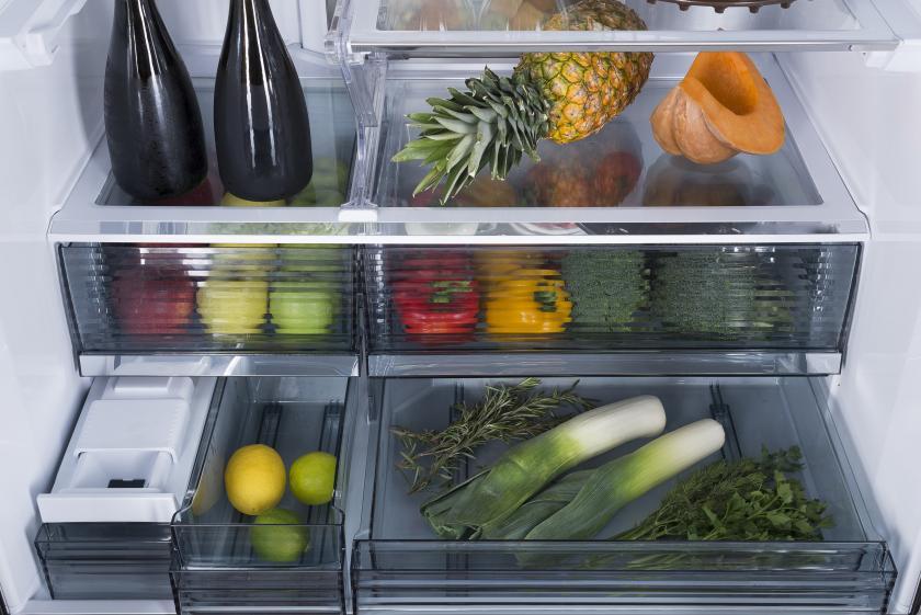 interiér ledničky