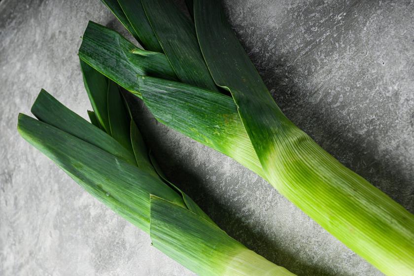 zelená část pórku