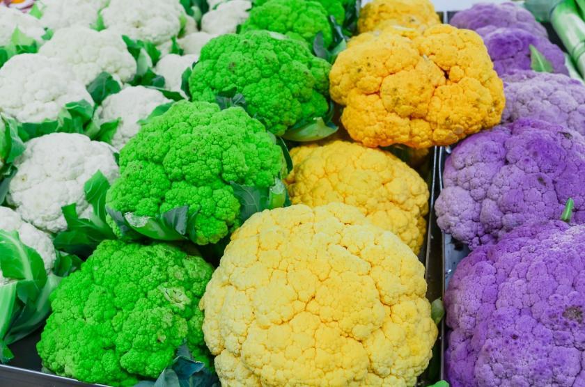 barevné odrůdy květáku