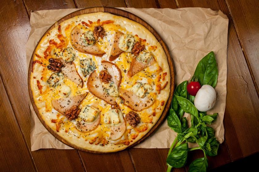 pizza s hruškami