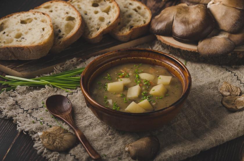 polévka z hlívy