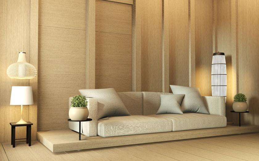 obývák v zen stylu
