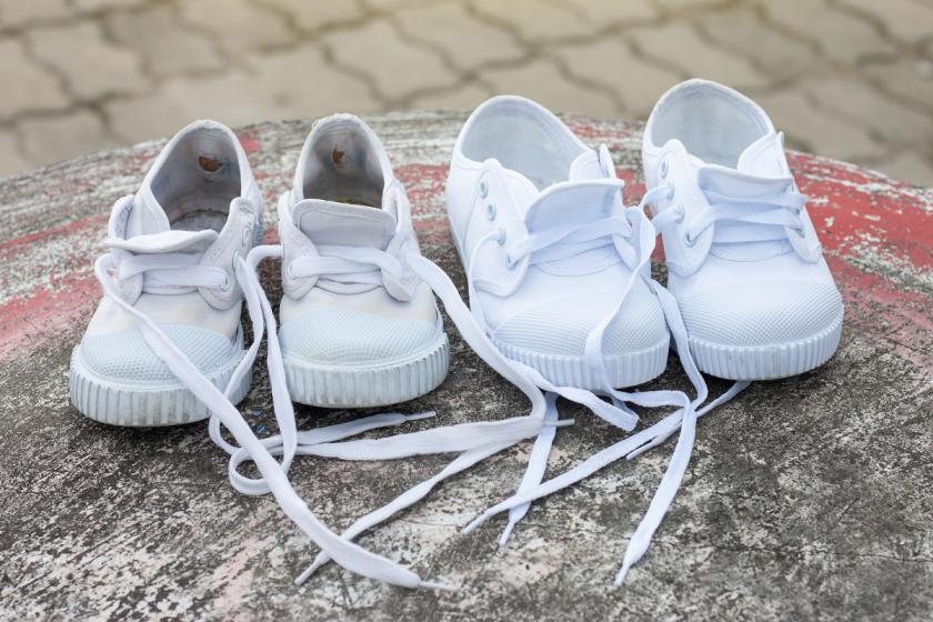dětské bílé boty
