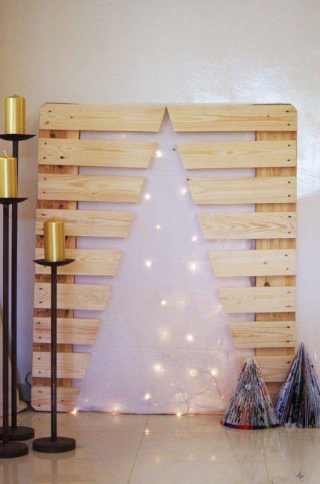 vánoční stromek z palet