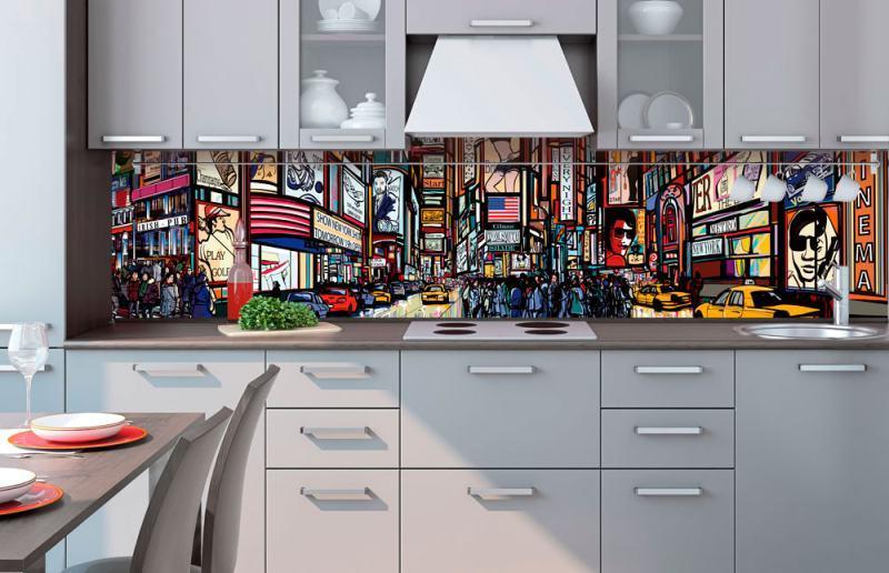 samolepící fototapeta do kuchyně Times Square